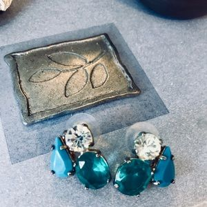 Turquoise Stone Statement Earrings